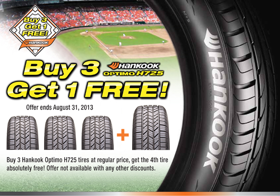 Hankook Buy 3 Get 1 Free Kost Tire And Auto Tires And