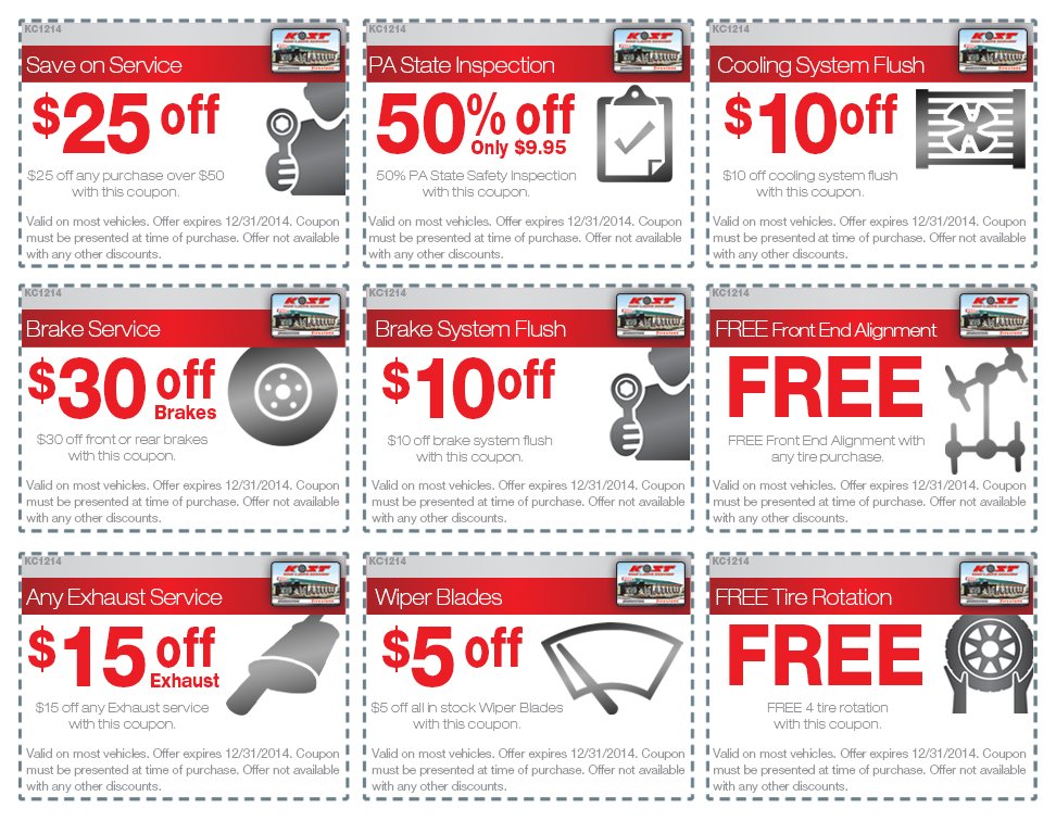 Discount auto coupons