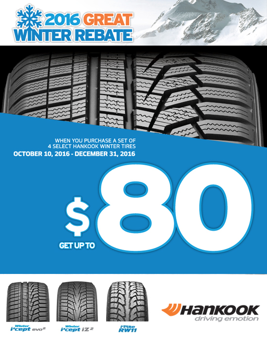 Hankook Great Winter Rebate | Kost Tire and Auto – Tires and Auto ...